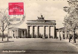 Deutsche Einheit 1958 DDR Maxi-Kt.1/58,665 SST 12€ Fertigstellung Brandenburger Tor History Maxicard Of GDR Germany - [6] République Démocratique