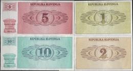 B 114 - SLOVENIE Billets De 1-2-5-10 De 1990 état Neuf 1er Choix - Slovénie