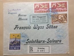 SWITZERLAND 1934 FFC London Australia - Basel Postmarks Par Avion London Karachi Singapore Cachet Sent To Victoria - Covers & Documents