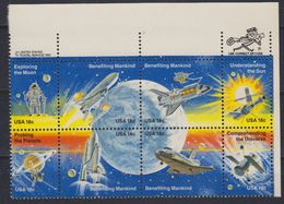 USA 1981 Space / Benefiting Mankind / Exploring The Moon Bl Of 8v  (ZIP) ** Mnh (41798) - Nuovi