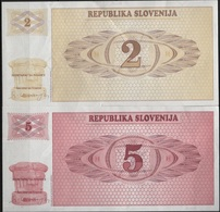 B 115 - SLOVENIE Billets De 2 Et 5 De 1990 état Neuf 1er Choix - Slovenia