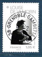 France 2019.Louise De Vilmorin.Cachet Rond Gomme D'Origine. - France