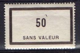 FRANCE ( FICTIF ) : Y&T  N°  F134  TIMBRE  AVEC  SANS  TRACE  DE  CHARNIERE . - Fictifs
