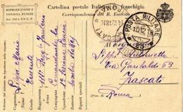 CARTOLINA POSTALE IN FRANCHIGIA - SPEDITA DA SAPPADA (BL) PER FRASCATI (RM) IL 10.12.1918 - 1900-44 Vittorio Emanuele III