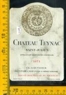 Etichetta Vino Liquore Chateau Teynac 1971-San-Julien Francia - Etichette
