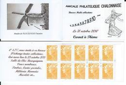 Carnet Privé A.P.C. Chalon Sur Saône -Bourse 2010 - Booklets