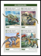 CENTRAL AFRICA 2018 MNH Dinosaurs Dinosaurier Dinosaures M/S - OFFICIAL ISSUE - DH1905 - Prehistorics