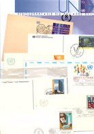 NATIONS UNIES MARCOPHILIE LOT D'ENTIERS FDC  POIDS 245 GRAMMES - Vrac (max 999 Timbres)