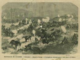 INC 02 - LA GUERRA FRANCO TEDESCA DEL 1870-71 - BATTAGLIA DI VILLIERS - DINANZI A PARIGI - Estampes & Gravures
