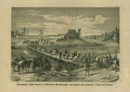 INC 03 - LA GUERRA FRANCO TEDESCA DEL 1870-71 - PASSAGGIO DELLA SENNA A VILLENEUVE-S.GEORGES - Estampes & Gravures