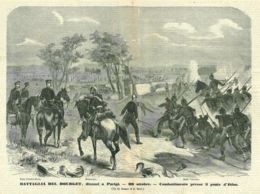 INC 06 - LA GUERRA FRANCO TEDESCA DEL 1870-71 - BATTAGLIA DEL BOURGET DINANZI A PARIGI - Estampes & Gravures