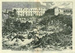 INC 13 - LA GUERRA FRANCO TEDESCA DEL 1870-71 - LA CATASTROFE DI LAON DOPO LO SCOPPIO DELLA POLVERIERA - Estampes & Gravures