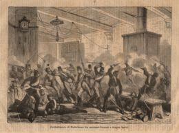 INC 23 - LA GUERRA FRANCO TEDESCA DEL 1870-71 - COMBATTIMENTO DI NIEDERBRONN - Estampes & Gravures