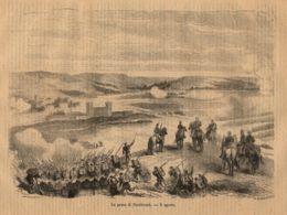 INC 25 - LA GUERRA FRANCO TEDESCA DEL 1870-71 - LA PRESA DI SAARBRUCK - Estampes & Gravures