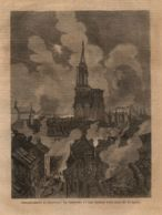 INC 28 - LA GUERRA FRANCO TEDESCA DEL 1870-71 - BOMBARDAMENTO DI STRASBURGO - Estampes & Gravures