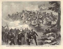 INC 31 - LA GUERRA FRANCO TEDESCA DEL 1870-71 - EPISODIO DELLA BATTAGLIA DI WORTH - Estampes & Gravures
