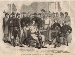 INC 37 - LA GUERRA FRANCO TEDESCA DEL 1870-71 - L'ESERCITO POPOLARE DI FRANCIA - Estampes & Gravures