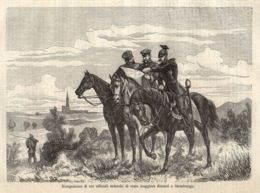 INC 39 - LA GUERRA FRANCO TEDESCA DEL 1870-71 - RICOGNIZIONE DINANZI A STRASBURGO - Estampes & Gravures