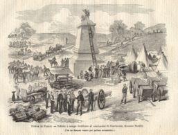 INC 42 - LA GUERRA FRANCO TEDESCA DEL 1870-71 - DIFESA DI PARIGI - Estampes & Gravures