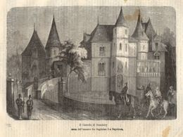 INC 46 - LA GUERRA FRANCO TEDESCA DEL 1870-71 - IL CASTELLO DI DONCHERY - Estampes & Gravures