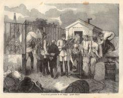INC 48 - LA GUERRA FRANCO TEDESCA DEL 1870-71 - REQUISIZIONI PRUSSIANE PRESSO PARIGI - Estampes & Gravures
