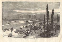 INC 49 - LA GUERRA FRANCO TEDESCA DEL 1870-71 - IL LAVORO DELLE FORTIFICAZIONI A LIONE - Estampes & Gravures