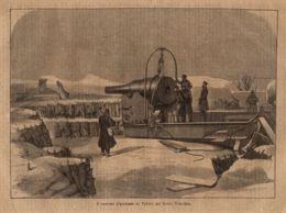 INC 54 - LA GUERRA FRANCO TEDESCA DEL 1870-71 - IL CANNONE GIGANTESCO LA VALERIE SUL MONTE VALERIANO - Estampes & Gravures
