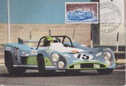 FDC FRANCE : 50 ème ANNIVERSAIRE DES 24 Heures Du MANS 1973 ( MATRA-SIMCA H.PESCAROLO ) - Automobile