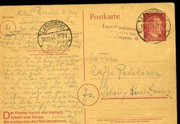 V37 1944 INTERO POSTALE LANDSBERG , LAGER FRIEDRICHSMULE PER ZDUNY LOWICZ , POLONIA , PROPAGANDA - Germania