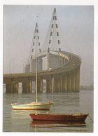 SAINT NAZAIRE--1998--Pont De St Nazaire-St Brévin-- Pont Sur La Loire Entre Mindin Et Saint Nazaire--carte Toilée - Saint Nazaire