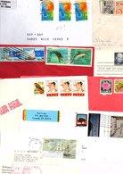 USA ETATS UNIS MARCOPHILIE LOT DE LETTRES POUR LA FRANCE POIDS 460 GRAMMES - Stamps