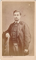 PHOTO CDV HOMME ELEGANT BARBE  MODE  Cabinet  BERNOUD   A LYON NAPLES - Photographs