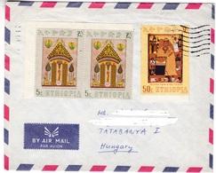 M421 Ethiopia Lettre Letter To Hungary Mi 671 Paintings - Ethiopie