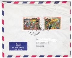M422 Ethiopia Lettre Letter To Hungary Mi 679 Adua Victory - Ethiopie
