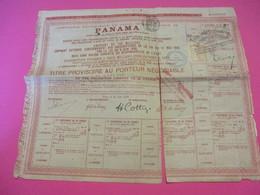 Titre Provisoire Au Porteur Négociable/ Canal Interocéanique PANAMA/Gouvernement Français/1888                ACT156 - Navigation