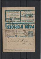 CA17- SAGE 15c CARTE LETTRE ANNONCE ED.156 CIRCULEE COUVERTURE SEULE - Cartes-lettres