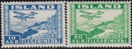 IJsland      .    Yvert       .   Lucht  15/16        .    **  .    Postfris ZONDER Plakker    .   /    .   MNH - Posta Aerea