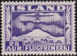 IJsland      .    Yvert       .   Lucht  17        .    **  .    Postfris ZONDER Plakker    .   /    .   MNH - Poste Aérienne