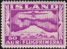 IJsland      .    Yvert       .   Lucht  18          .    **  .    Postfris ZONDER Plakker    .   /    .   MNH - Poste Aérienne