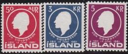 IJsland      .    Yvert       .    306/308         .    **  .    Postfris ZONDER Plakker    .   /    .   MNH - 1944-... Repubblica