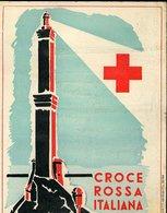 V40 CROCE ROSSA ITALIANA , GENOVA 1951 , RICORDO INCONTRO DI CALCIO ITALIA - FRANCIA CON AUTOGRAFI STAMPATI - Documenti Storici