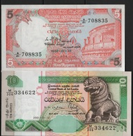 B 117 - SRI LANKA Lot De 2 Billets état Neuf 1er Choix - Sri Lanka