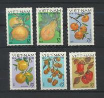 Viêt-Nam  Fruits  Vietnam  Yvert 648/53  De 1969  MNH XX - Viêt-Nam