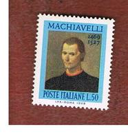 ITALIA REPUBBLICA -  UN.1111  -  1969  N. MACHIAVELLI   - NUOVI **(MINT) - 6. 1946-.. Republic
