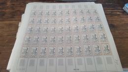 LOT 439986 TIMBRE DE FRANCE NEUF**  LUXE N°1290 VALEUR 100 EUROS FEUILLE - Feuilles Complètes