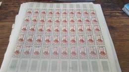 LOT 439988 TIMBRE DE FRANCE NEUF**  LUXE N°1252 VALEUR 100 EUROS FEUILLE - Feuilles Complètes