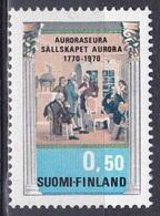 Finnland Finland Suomi 1970 Kultur Culture Literatur Literature Aurora-Verein Gemälde Paintings Järnefelt, Mi. 678 ** - Finlande