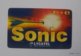 ITALY 2006: Phone Card From Italy: Sonic (Lycatel) 5 + 1 Euro - Italy
