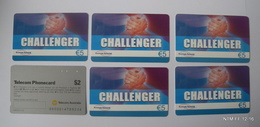 Phone Cards From: Challenger, Gnanam Telecom (X5) + Australia Telecom Prepaid Card - Collections
