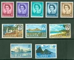 St Lucia: 1964/69   QE II Set    SG197-210     MNH - St.Lucia (...-1978)